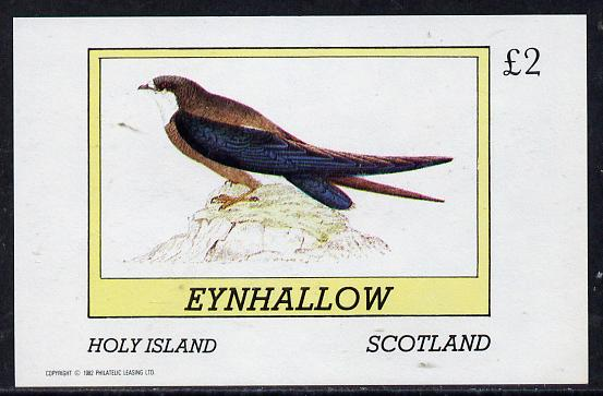 Eynhallow 1982 Martin imperf deluxe sheet (�2 value) unmounted mint