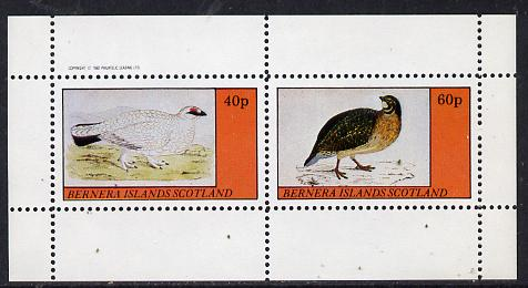 Bernera 1982 Game Birds #1 perf  set of 2 values (40p & 60p) unmounted mint