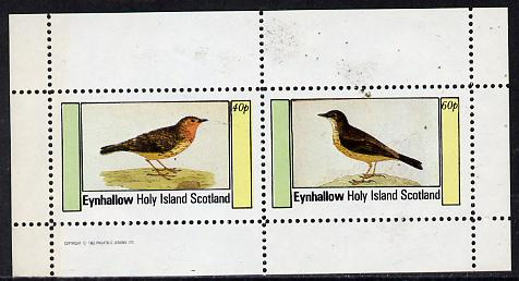 Eynhallow 1982 Thrushes perf  set of 2 values (40p & 60p) unmounted mint