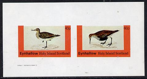 Eynhallow 1982 Waders #4 imperf  set of 2 values (40p & 60p) unmounted mint