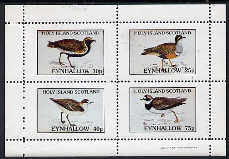 Eynhallow 1981 Waders #2 perf  set of 4 values (10p to 75p) unmounted mint