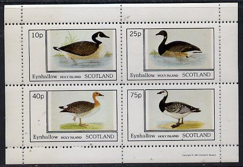 Eynhallow 1981 Ducks #1 perf  set of 4 values (10p to 75p) unmounted mint