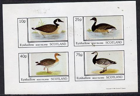 Eynhallow 1981 Ducks #1 imperf  set of 4 values (10p to 75p) unmounted mint