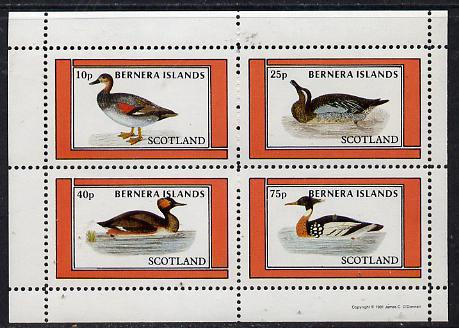Bernera 1981 Ducks #3 perf  set of 4 values (10p to 75p) unmounted mint