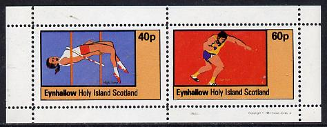 Eynhallow 1981 Athletics (High Jump & Shot) perf  set of 2 values (40p & 60p) unmounted mint