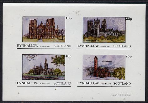 Eynhallow 1981 Cathedrals imperf  set of 4 values (10p to 75p) unmounted mint