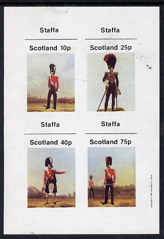 Staffa 1981 Military Uniforms imperf  set of 4 values (10p to 75p) unmounted mint