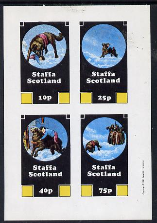 Staffa 1981 Rescue Dogs imperf  set of 4 values (10p to 75p) unmounted mint