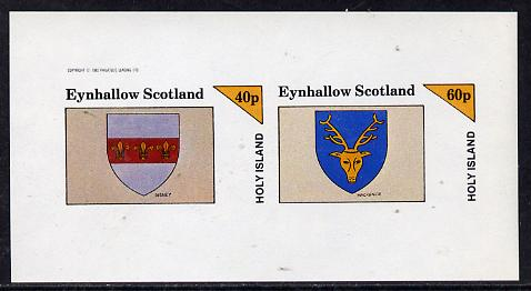 Eynhallow 1982 Heraldry (Disney & MacKenzie) imperf  set of 2 values (40p & 60p) unmounted mint