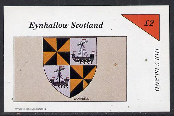 Eynhallow 1982 Heraldry (Campbell) imperf deluxe sheet (�2 value) unmounted mint