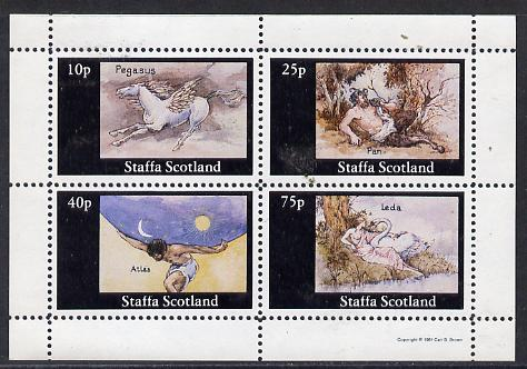 Staffa 1981 Signs of the Zodiac (Pegasus, Pan etc) perf  set of 4 values (10p to 75p) unmounted mint