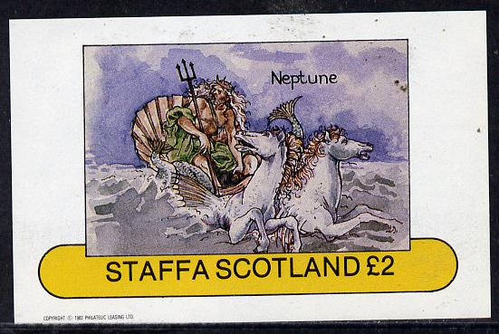Staffa 1982 Mythology (Neptune in Shell Chariot) imperf deluxe sheet (�2 value) unmounted mint