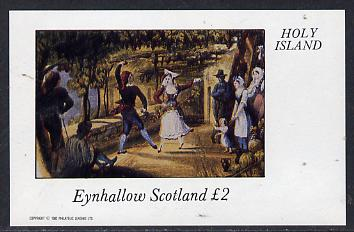 Eynhallow 1982 Painting of Dancers imperf deluxe sheet (�2 value) unmounted mint