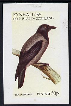 Eynhallow 1973 Hooded Crow imperf souvenir sheet (50p value) unmounted mint