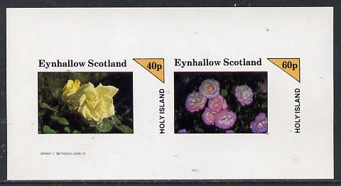 Eynhallow 1982 Roses imperf  set of 2 values (40p & 60p) unmounted mint