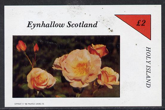 Eynhallow 1982 Roses imperf deluxe sheet (�2 value) unmounted mint