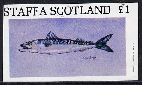 Staffa 1982 Mackerel imperf souvenir sheet (�1 value)  unmounted mint