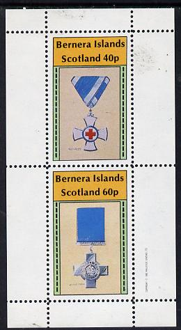 Bernera 1982 Medals (Red Cross & George Cross) perf  set of 2 values (40p & 60p) unmounted mint