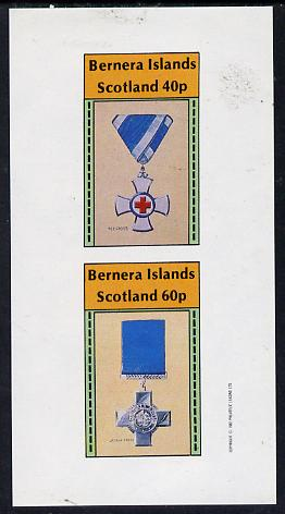 Bernera 1982 Medals (Red Cross & George Cross) imperf  set of 2 values (40p & 60p) unmounted mint
