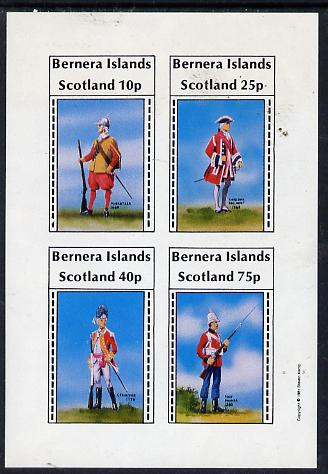 Bernera 1981 Early Military Uniforms imperf  set of 4 values (10p to 75p) unmounted mint