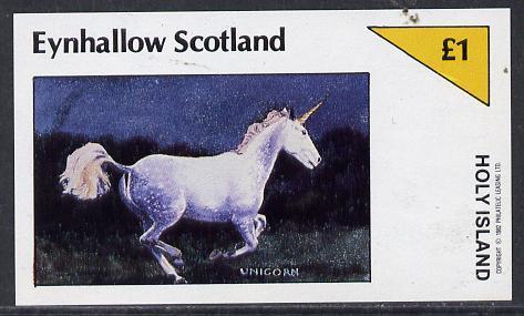 Eynhallow 1982 Mythology (Unicorn) imperf souvenir sheet (�1 value) unmounted mint