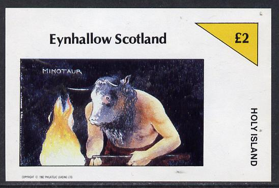 Eynhallow 1982 Mythology (Minotaur) imperf deluxe sheet (�2 value) unmounted mint