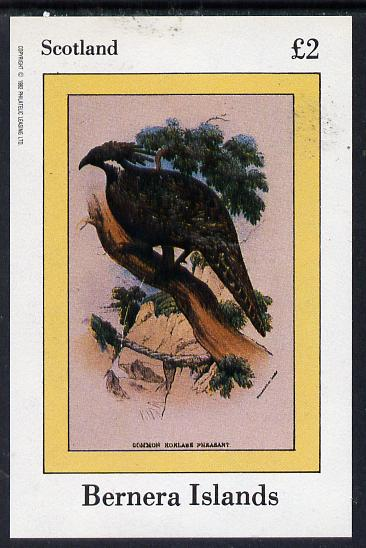 Bernera 1982 Pheasant imperf deluxe sheet (�2 value) unmounted mint