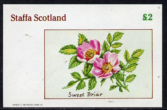 Staffa 1982 Roses #4 (Sweet Briar) imperf deluxe sheet (�2 value) unmounted mint