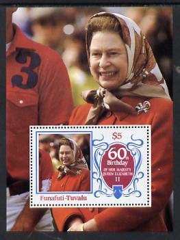 Tuvalu - Funafuti 1986 Queen Elizabeth 60th Birthday $5 m/sheet unmounted mint