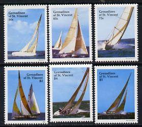 St Vincent - Grenadines 1988 Racing Yachts set of 6 unmounted mint, SG 547-52