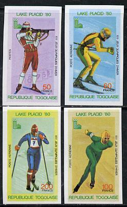 Togo 1980 Lake Placid Winter Olympics imperf set of 4 from limited printing unmounted mint, as SG 1418-21