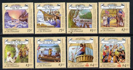 St Vincent - Grenadines 1988 Explorers set of 8 unmounted mint SG 564-71.
