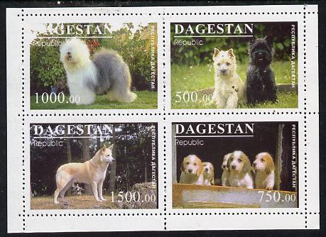 Dagestan Republic 1996 Dogs #1 sheetlet containing 4 values unmounted mint