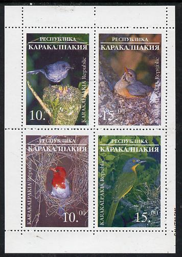 Karakalpakia Republic 1996 Birds #1 sheetlet containing 4 values unmounted mint