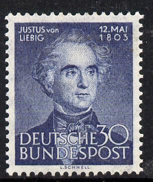 Germany - West 1953 150th Birth Anniversary of Liebig (Chemist) unmounted mint SG 1092