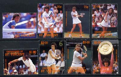 St Vincent - Grenadines 1988 International Tennis Players set of 8 unmounted mint SG 582-89