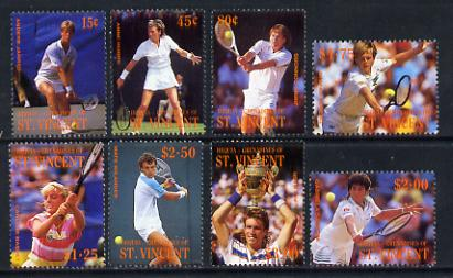 St Vincent - Bequia 1988 International Tennis Players set of 8 unmounted mint