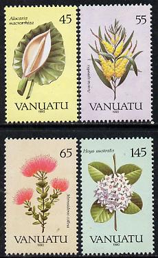 Vanuatu 1990 Flora perf set of 4 unmounted mint, SG 538-41