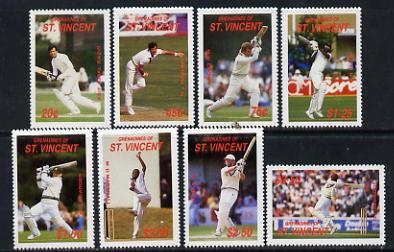 St Vincent - Grenadines 1988 Cricketers set of 8 unmounted mint SG 573-80