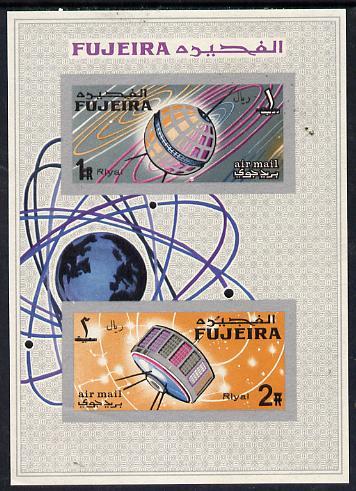 Fujeira 1968 Space Achievements imperf m/sheet, Mi BL 4B unmounted mint