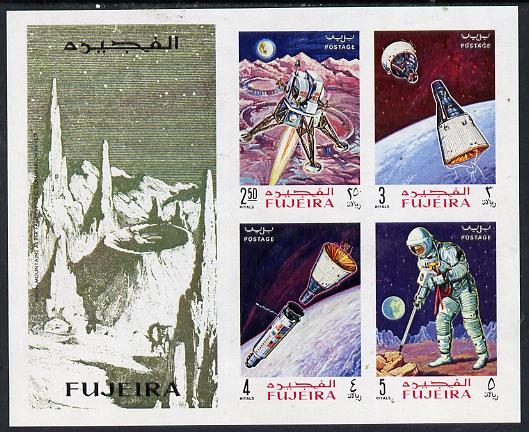 Fujeira 1969 Apollo Space Flights imperf m/sheet, Mi BL 14B unmounted mint