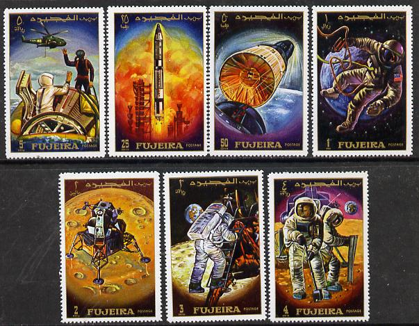 Fujeira 1970 Apollo 12 Space Flight perf set of 7, Mi 449-55A unmounted mint