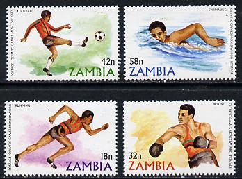 Zambia 1980 Olympic Games se of 4 unmounted mint, SG 311-14*