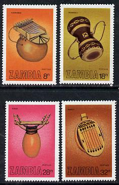Zambia 1981 Musical Instruments set of 4 unmounted mint, SG 356-59*