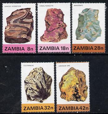 Zambia 1982 Minerals (1st Series) set of 5 unmounted mint, SG 360-64*