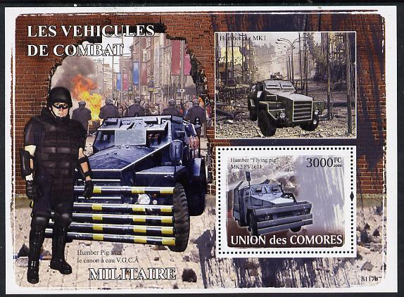 Comoro Islands 2008 Military Vehicles perf s/sheet unmounted mint Michel BL436