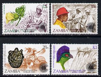 Zambia 1983 Commonwealth Day set of 4 unmounted mint, SG 379-82*