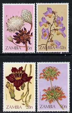Zambia 1983 Wild Flowers perf set of 4 unmounted mint, SG 383-86*
