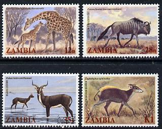 Zambia 1983 Wildlife set of 4 unmounted mint, SG 388-91*