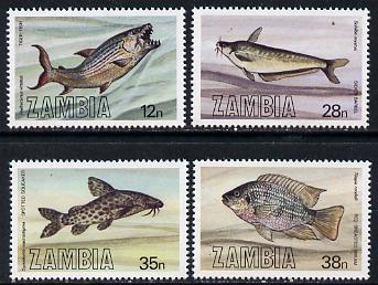 Zambia 1983 Fish perf set of 4 unmounted mint, SG 392-95*